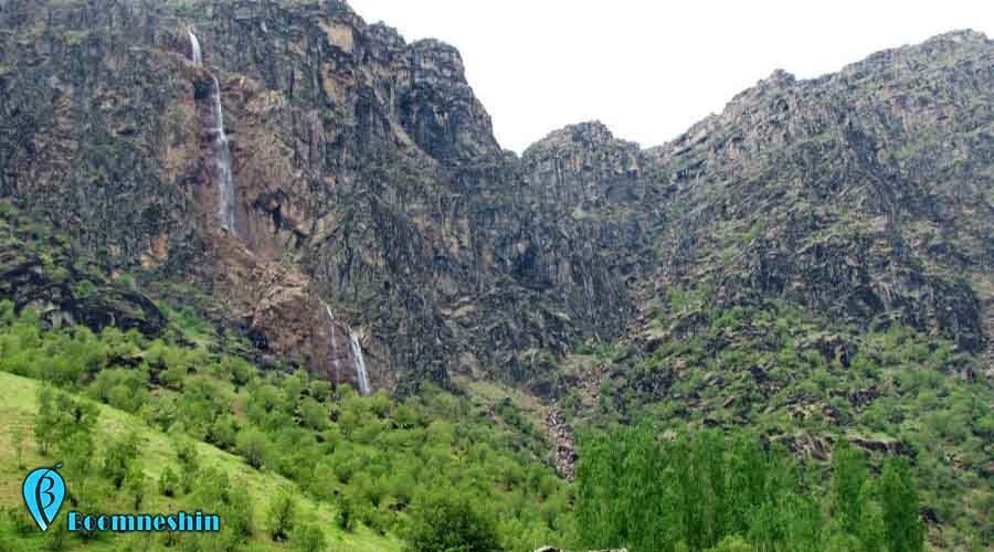 آبشار برنجه شول آباد | شکوهمندی بر قامت کوه های لرستان
